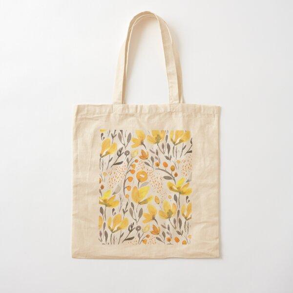 Yellow field Cotton Tote Bag