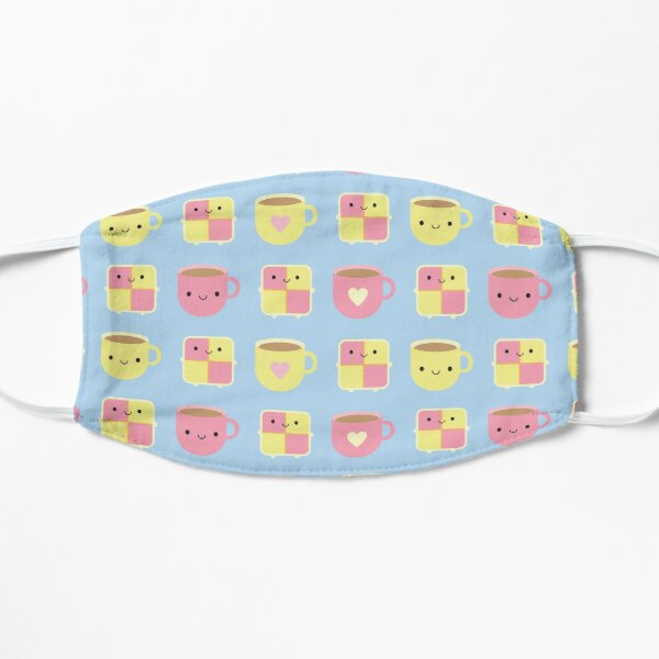 Kawaii Battenberg Cake & Cup of Tea Flat Mask