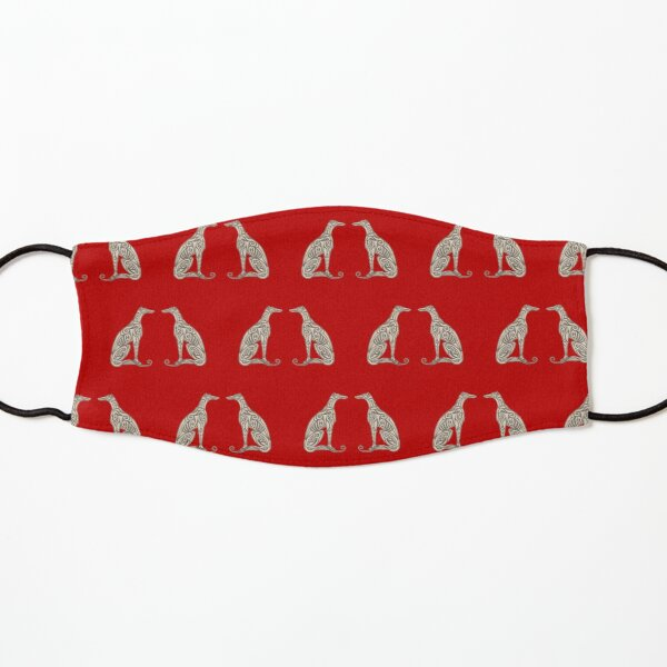 Double Greyhounds - Bold Red Kids Mask