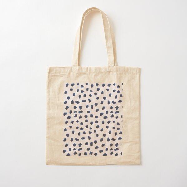 Handmade animal print blue shades Cotton Tote Bag