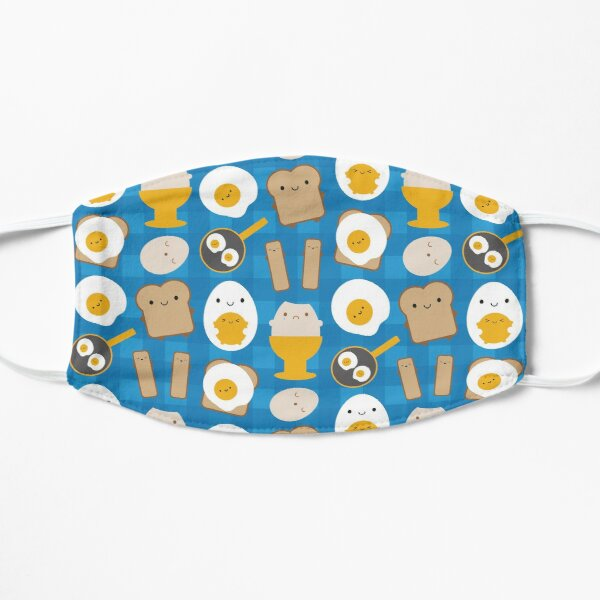 Kawaii Eggs For Breakfast Flat Mask