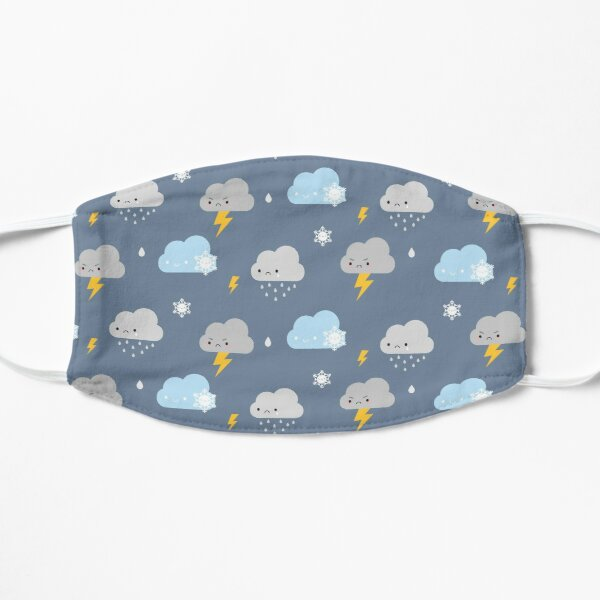 Kawaii Stormy Weather Flat Mask