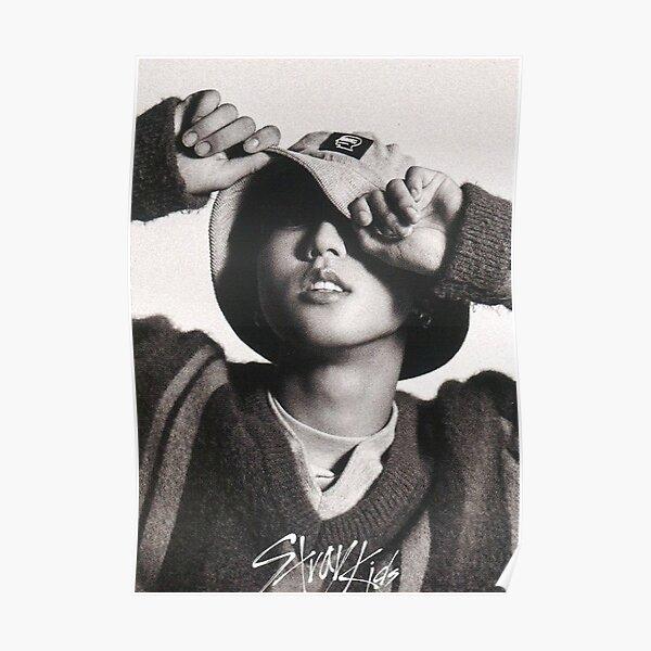 Han Jisung Stray Kids 3racha hot black and white  Poster