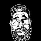 Graffiti Pop-art Cartoon Portrait - Black by eaaasytiger