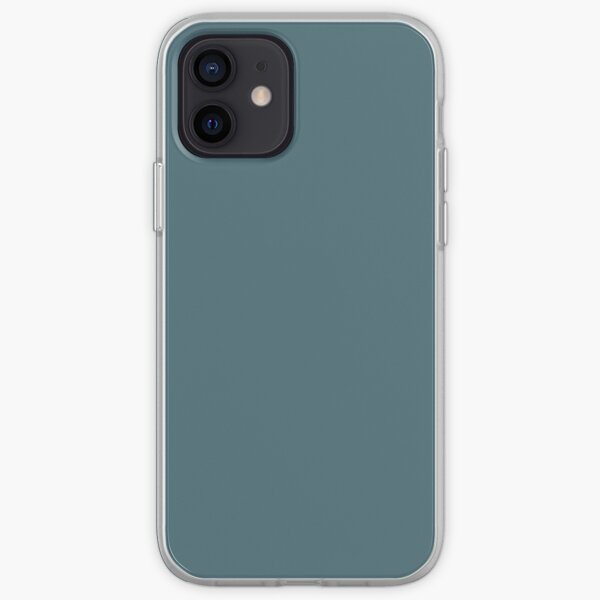 Deep Hydro blue solid colour iPhone Soft Case