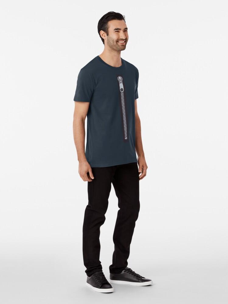 Alternate view of Zipper Premium T-Shirt