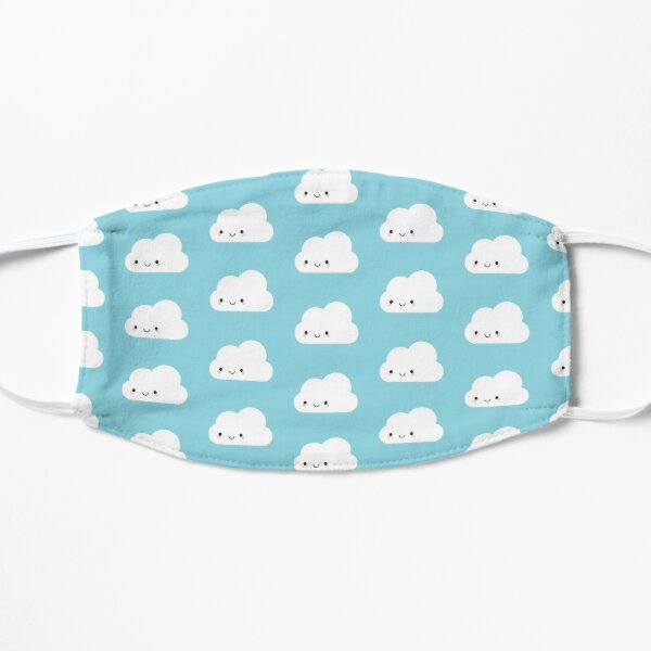 Happy Kawaii Clouds Flat Mask