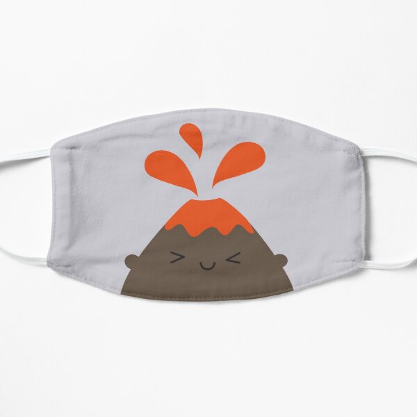 Happy Kawaii Volcano Flat Mask