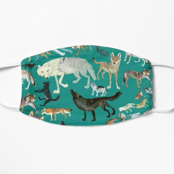 Wolves of the World (Green pattern) Mask