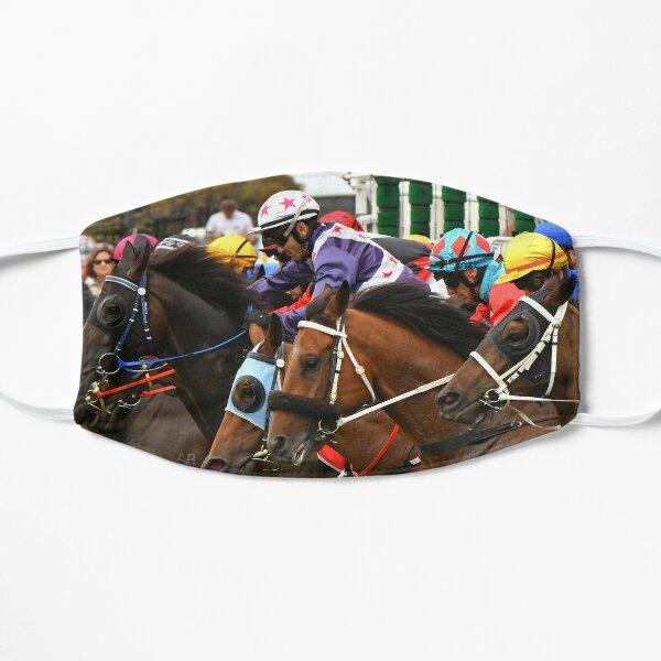 Horse racing action 2 Flat Mask