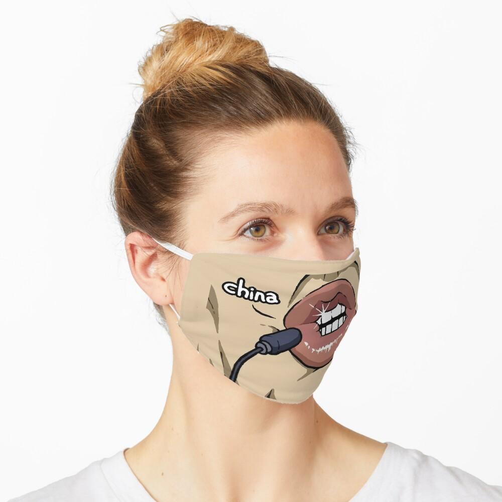 """Trump Saying CHINA Meme Face Mask"" Mask by ShirtPro ..."