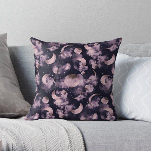 MAGIC MOONS PATTERN Throw Pillow
