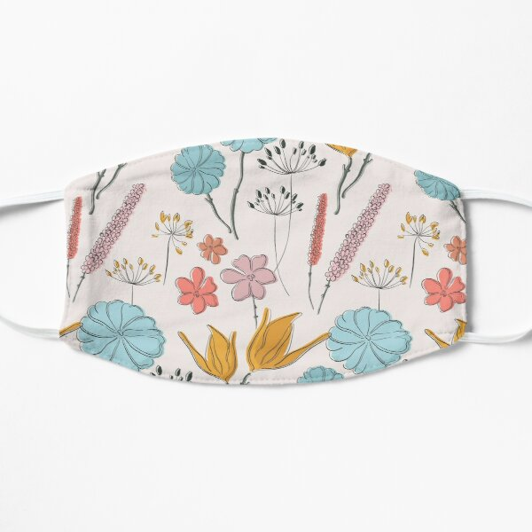 Summer flower print Mask