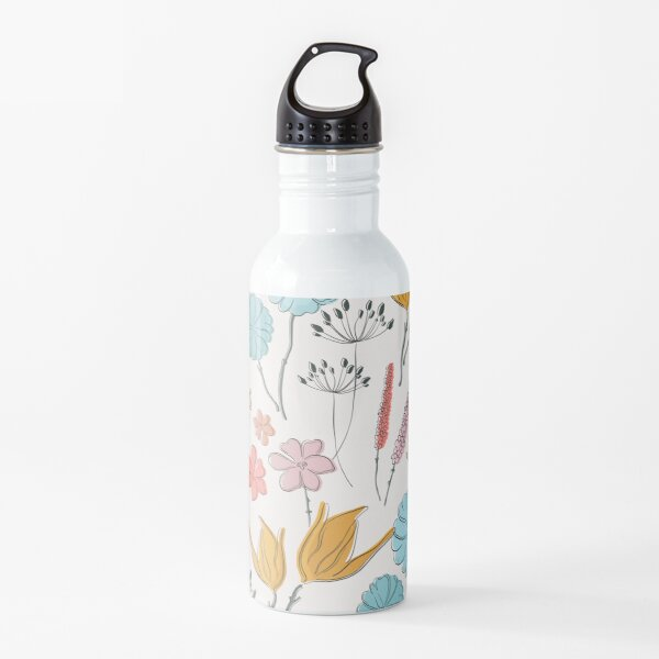 Summer flower print Water Bottle