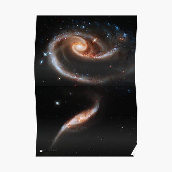 HUBBLE SPACE TELESCOPE SPIDERWEB GALAXY FIELD BLACK FRAMED ART PRINT B12X2332