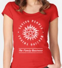 Supernatural Family Business Quote Women's Fitted Scoop T-Shirt