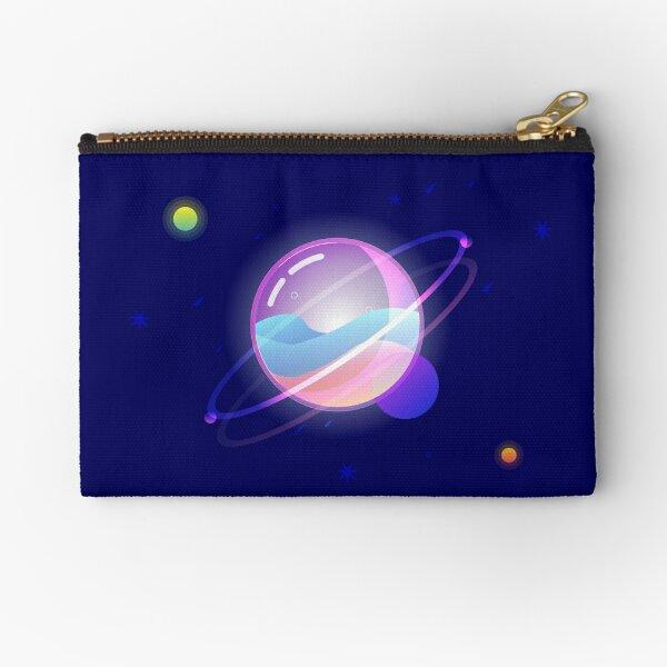 Space Bubble Planet Zipper Pouch