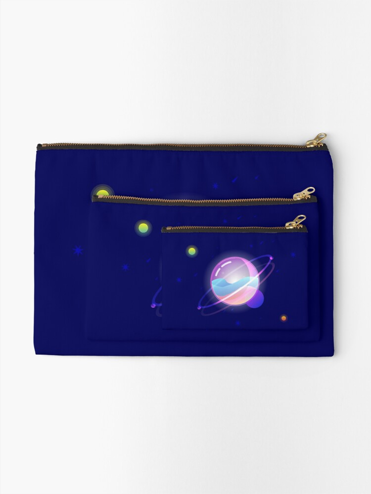Alternate view of Space Bubble Planet Zipper Pouch