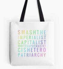 Bolsa de tela Smashtheimperialistcapitalistwhitesupremacistcisheteropatriarchy - rainbow