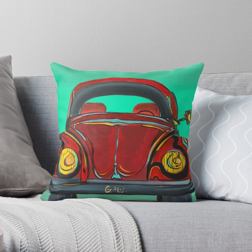 My first Beetle Throw Pillow