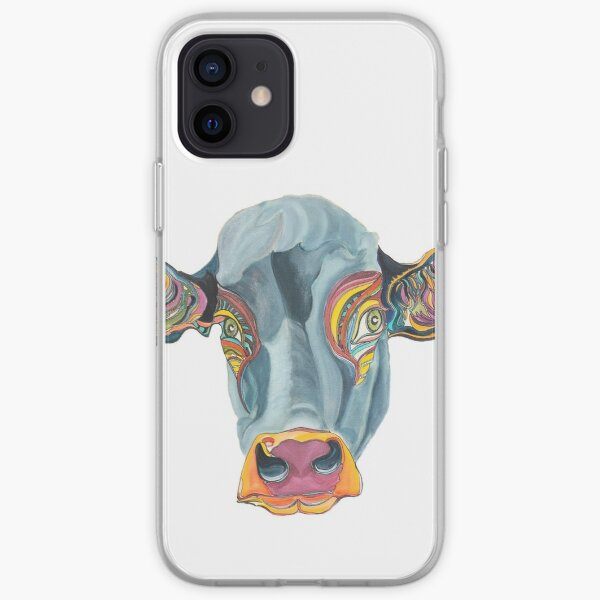 Cute Cow - Don't eat me  ... by Giselle iPhone Soft Case
