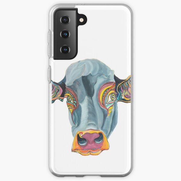 Cute Cow - Don't eat me  ... by Giselle Samsung Galaxy Soft Case