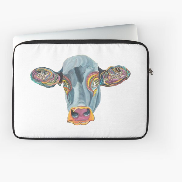 Cute Cow - Don't eat me  ... by Giselle Laptop Sleeve