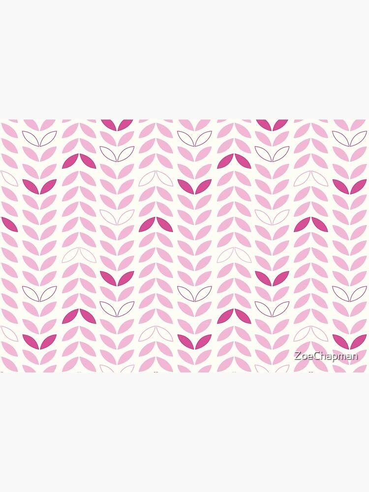 Pink Leaf Petal Modern by ZoeChapman