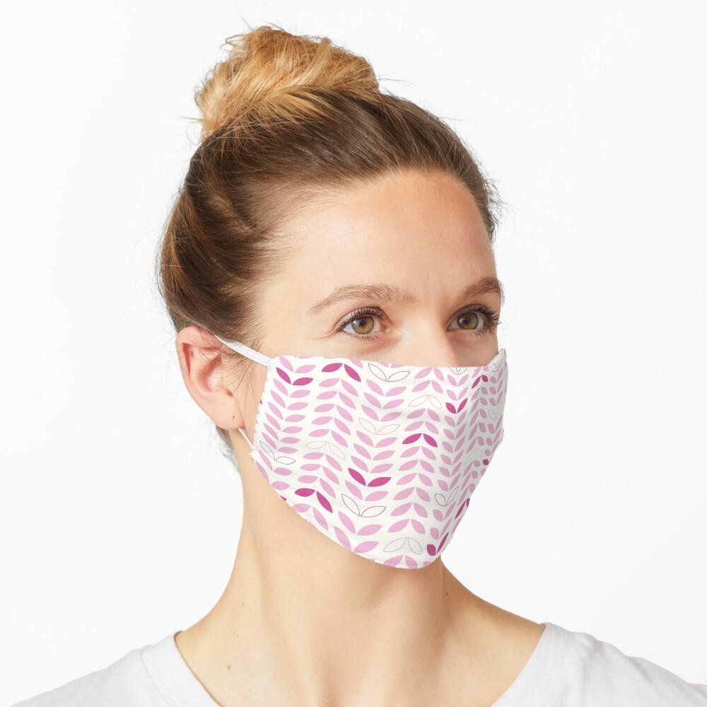 Pink Leaf Petal Modern Mask