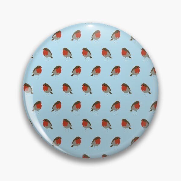 Red Robins - British Garden Birds Pin