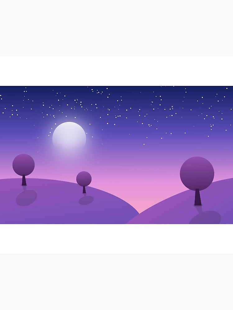 Trees under Moon by FWGraphicDesign