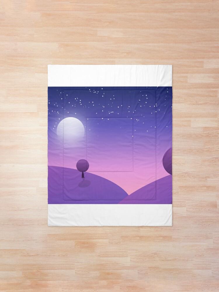 Alternate view of Trees under Moon Comforter