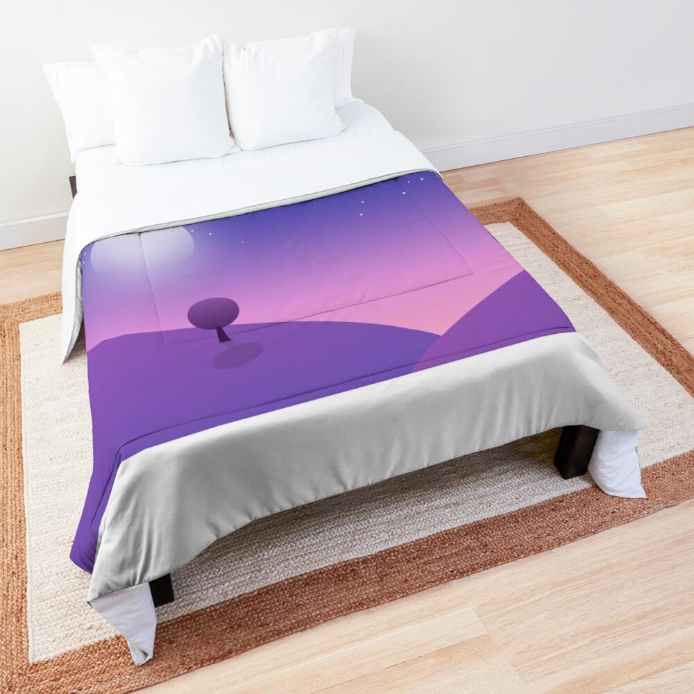 Trees under Moon Comforter