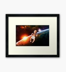 Space Baby Framed Print