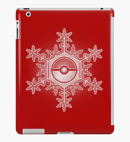 Pokeball Snowflake iPad Case/Skin