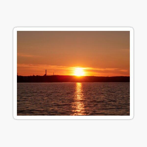 Nokia skyline at sunset Sticker