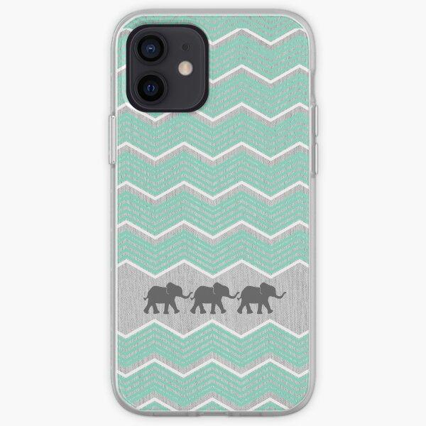 Three Elephants iPhone Soft Case