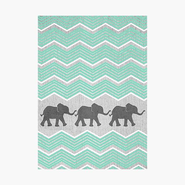 Drei Elefanten Fotodruck
