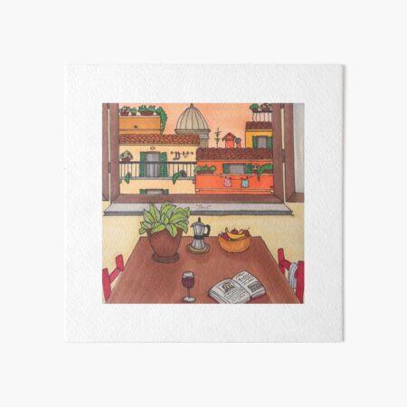 The Roman Quarantine - Sunset in the Kitchen Art Board Print