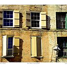 """""""Old Brick New Shutters"""" New Orleans French Quarter by Sandra Russell"""