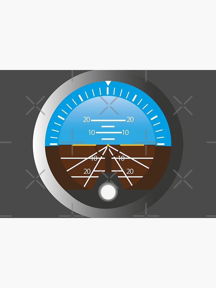 Airplane Pilot Attitude Gyro Cockpit Dial by CreativeTwins