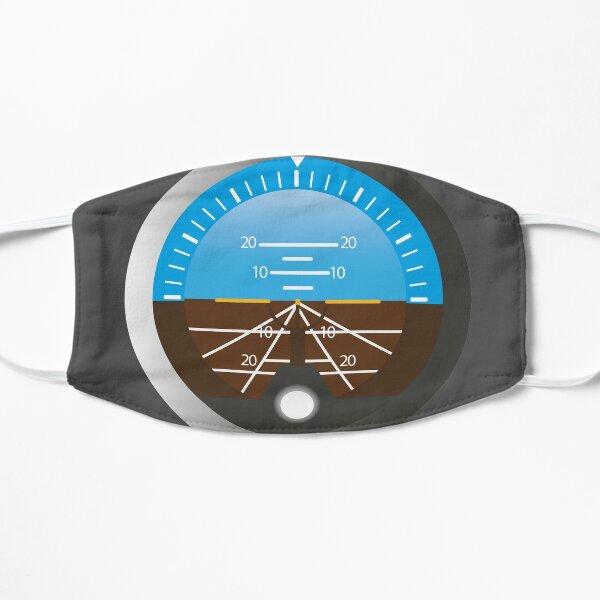 Airplane Pilot Attitude Gyro Cockpit Dial Flat Mask