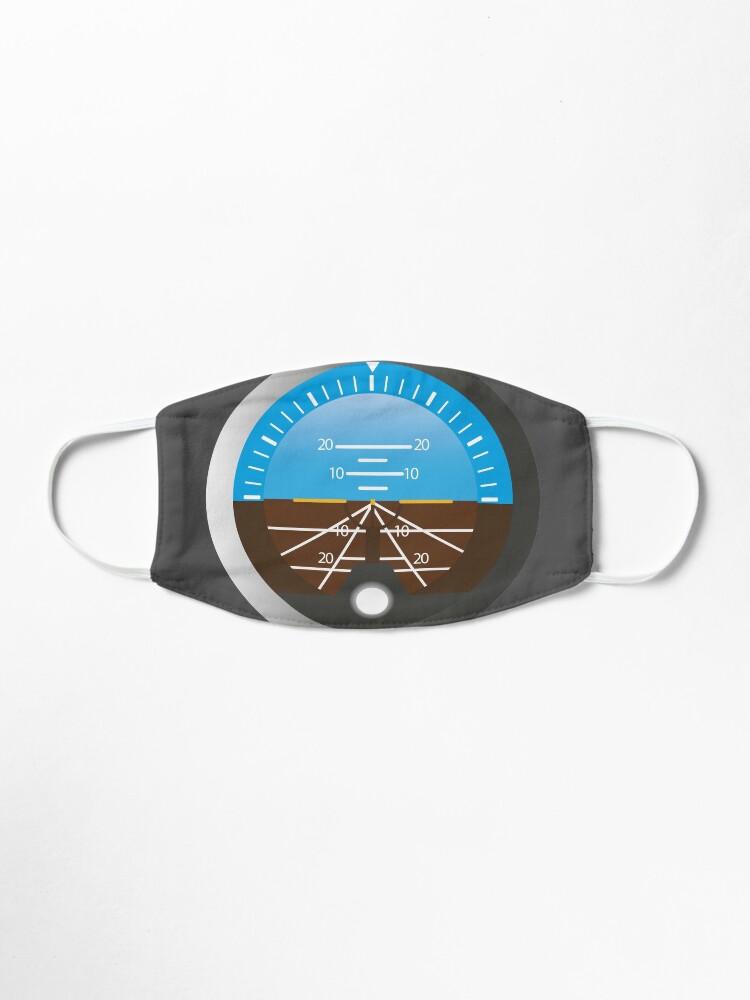 Alternate view of Airplane Pilot Attitude Gyro Cockpit Dial Mask