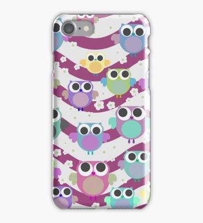 colorful owls iPhone Case/Skin
