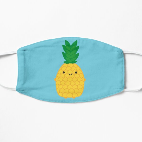 Kawaii Pineapple Flat Mask