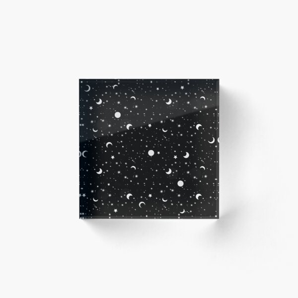 Schwarzes Universum Acrylblock