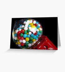 Miniature Bubble Gum Machine Greeting Card
