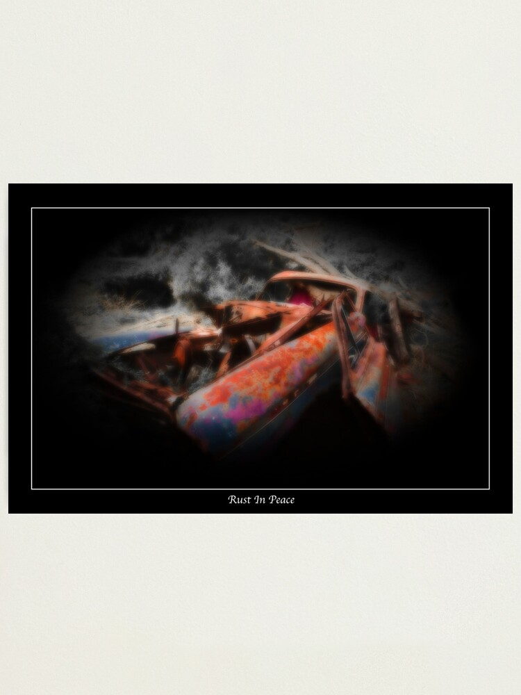 Alternate view of Rust  In Peace II Photographic Print