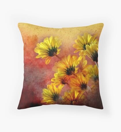red and yellow gallimaufry  Throw Pillow