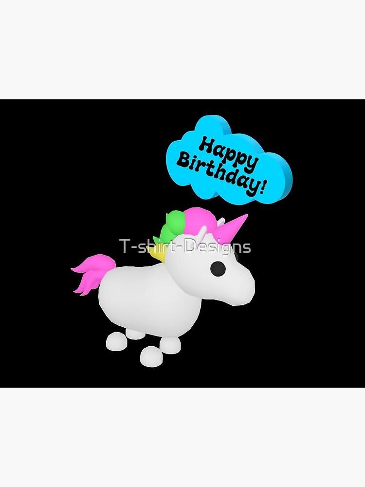 Happy Birthday Roblox Adopt Me Unicorn Art Board Print By T Shirt
